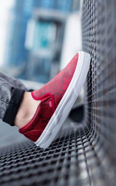 vans classic slip on chaussures chilli pepper snake