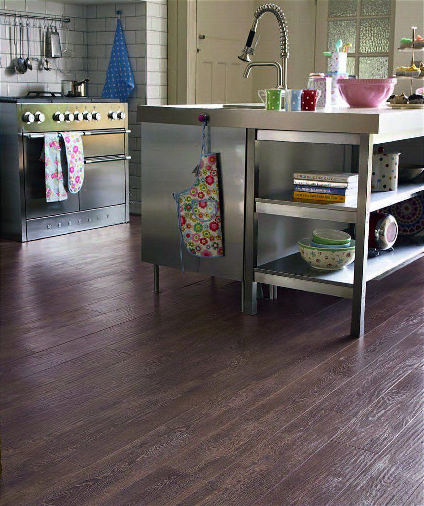Karndean floor Kitchen, Kitchen cart, Flooring