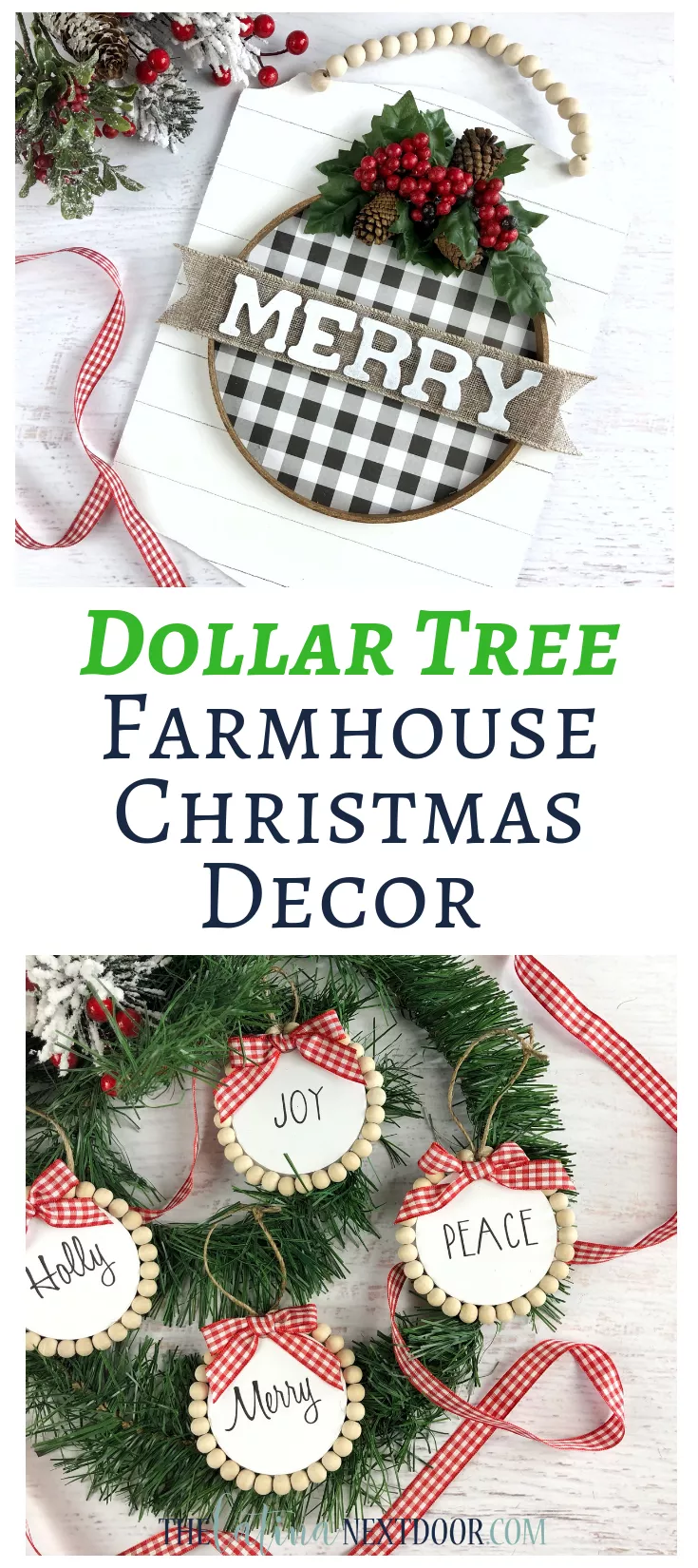 Dollar Tree Farmhouse Christmas Ornaments With Images Farmhouse Christmas Ornaments Diy