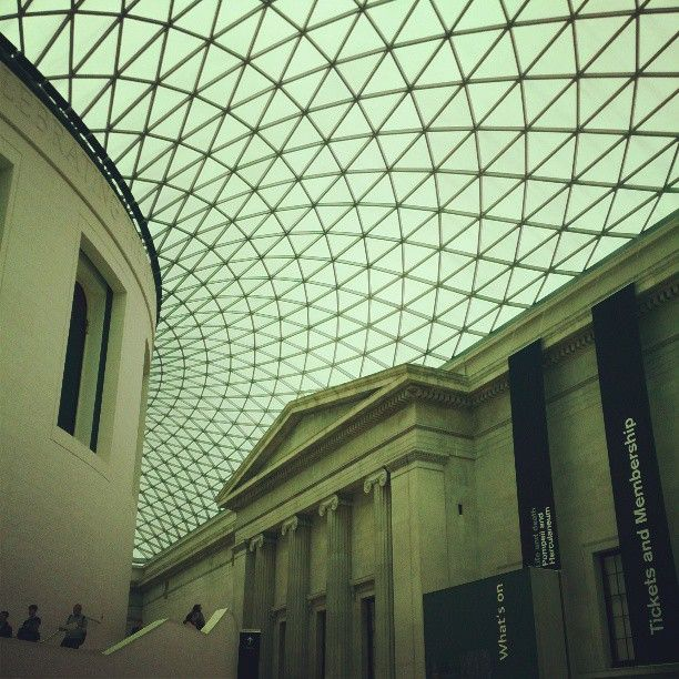 British Museum Architecture Roof Glass Building London Geometric Dome Glass Structure Glass Roof