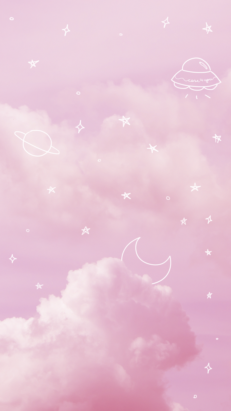 Aesthetic Baby Pink Background : aesthetic, background, Wallpaper, Case4You, #Pink, #PinkSky, #Space, #Aesthetic, Pastel, #Stars, #M…, Clouds, Wallpaper,, Backgrounds,, Iphone