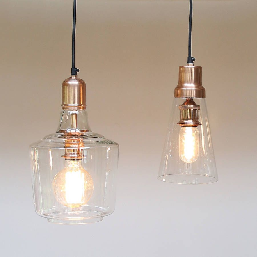 Copper And Glass Pendant Lights