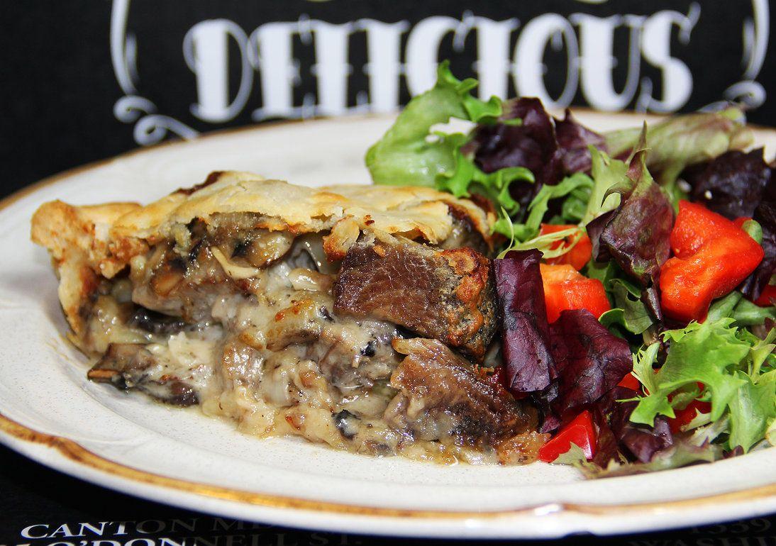 SMOG Pie - Steak, Mushroom, Onion and Gruyere cheese in a ...