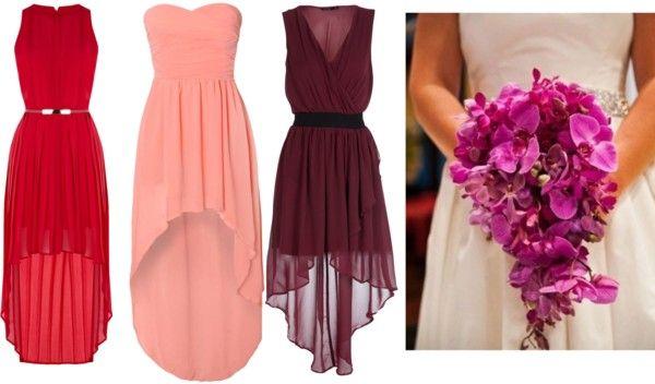 """Cascade Bouquet/ Dipped Hem Dress"" by naomi-joseph on Polyvore"