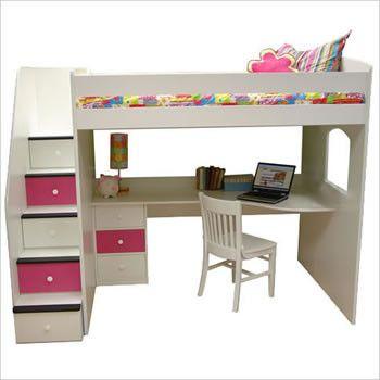 loft bunk bed - Coole Mdchen Schlafzimmer Mit Lofts