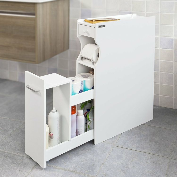 Schmaler Bad Schrank Mit Schublade Organization Ideas In 2019