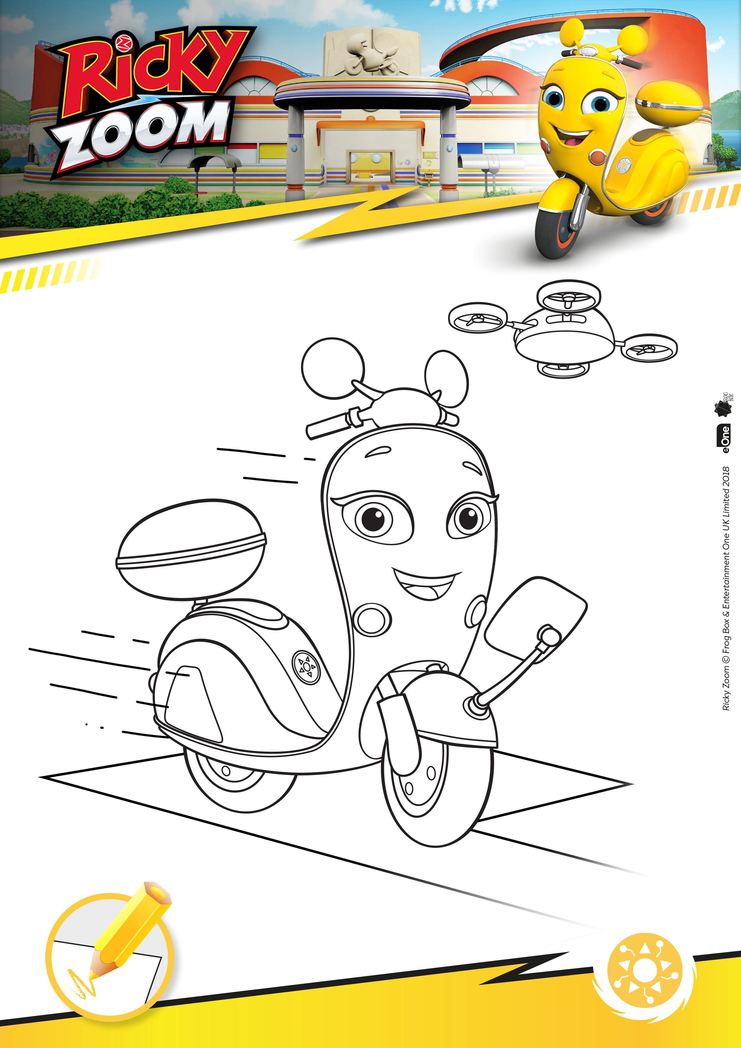 Imagens De Colorir Ricky Zoom In 2020 Discovery Kids Kids Cartoon