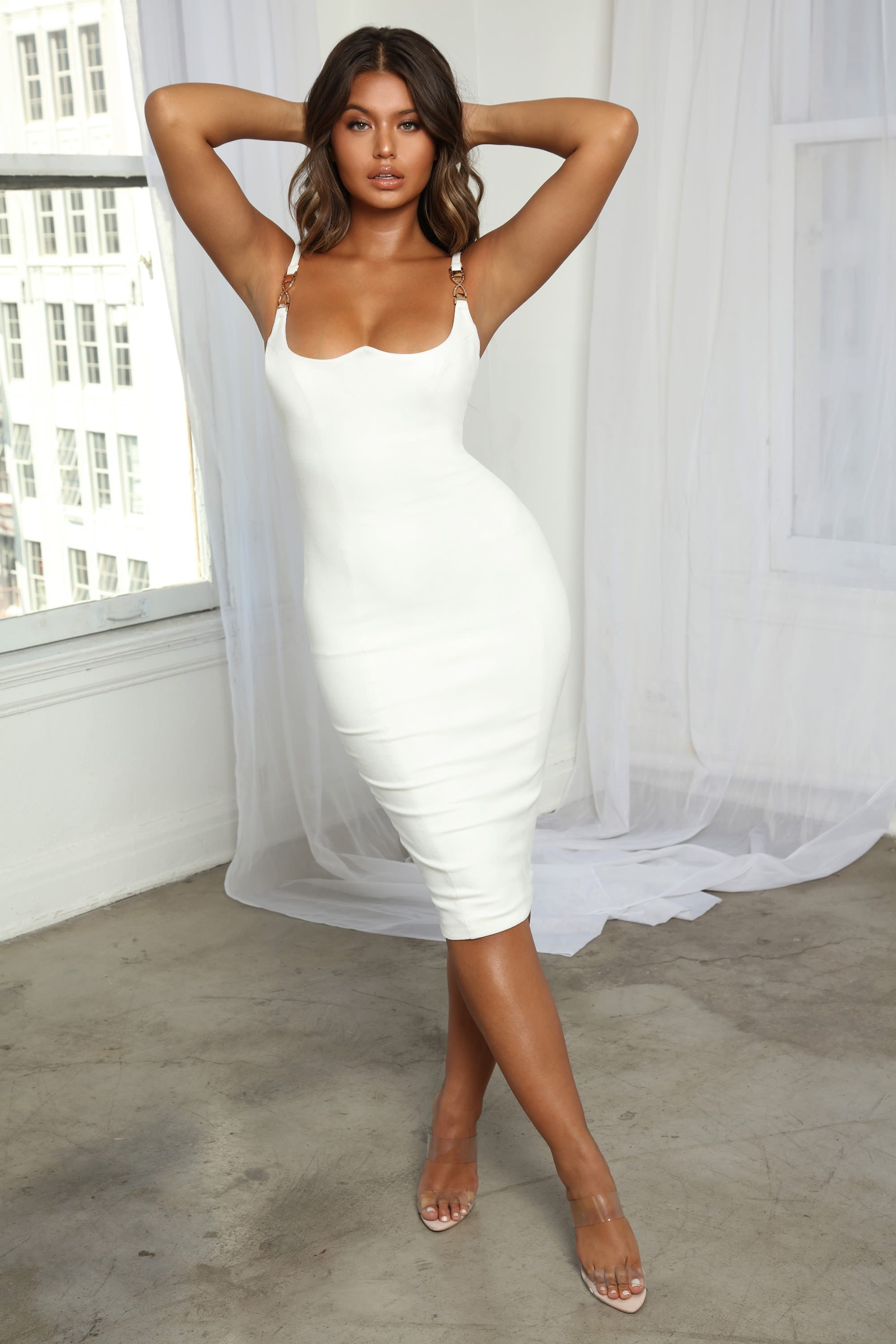 Bust Up Structured Suede Midi Dress Suede Midi Dress White Dress Dresses [ 3000 x 2000 Pixel ]