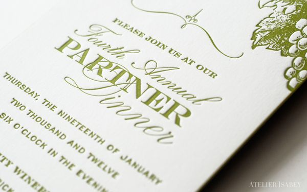 Firefly Investor Dinner Invitation by Atelier Isabey, via Behance