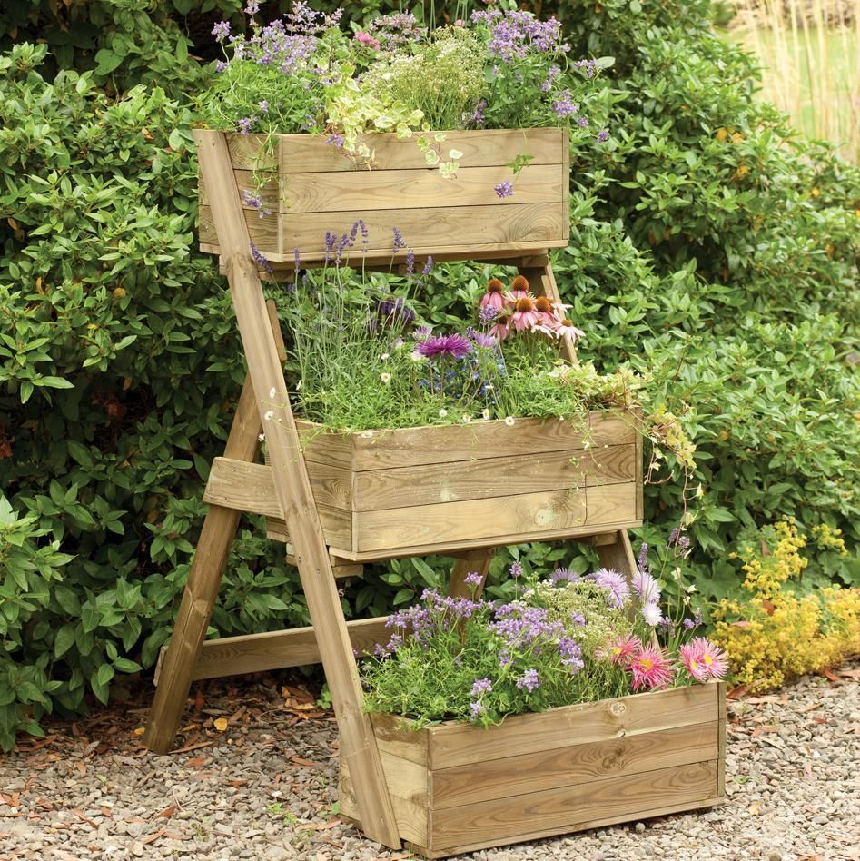 Forest 3 Tier Cascade Wooden Planter Listed In Astounding Wooden Planters  Plans Ideas
