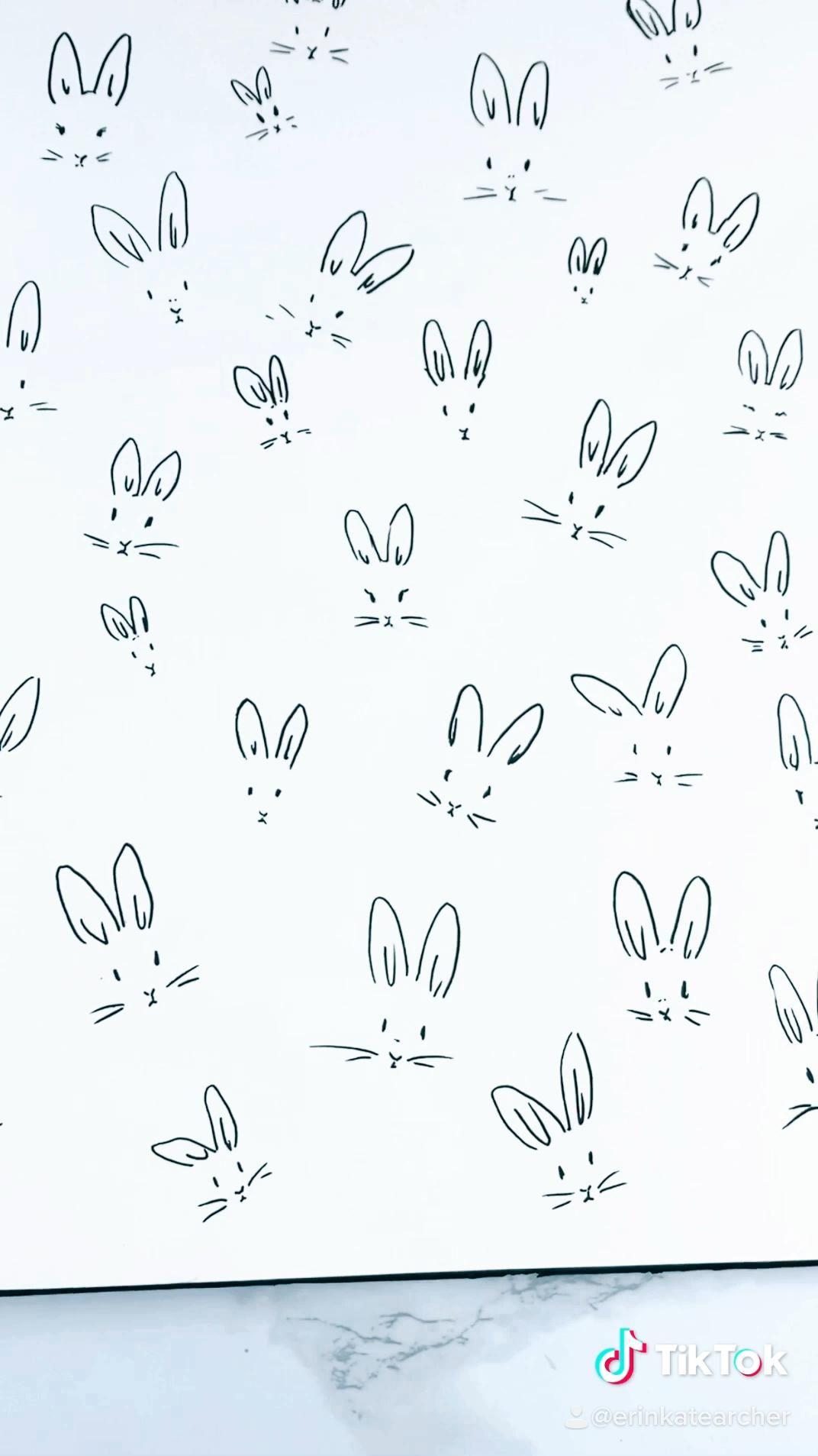 rabbit pattern drawing