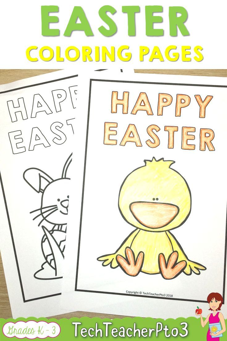 Easter Activities Coloring Pages Pack   Activities, Teacher and ...