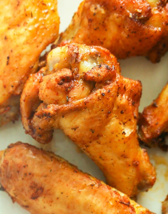 Air Fryer Chicken Wings - Immaculate Bites #airfryerchickenwings