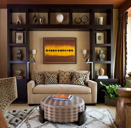 Elegant African Safari Living Room Ideas