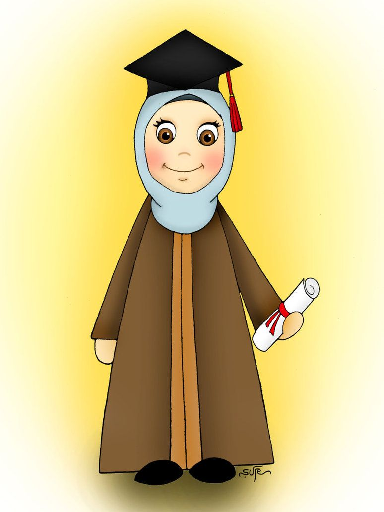 Graduate By Mesale On Deviantart Graduation Cartoon Islamic Cartoon Cartoon Images