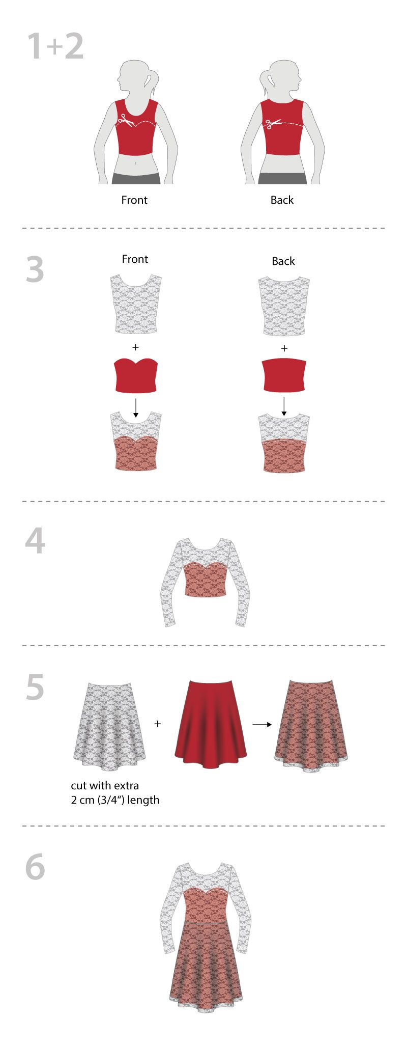 Christmas party dress! Tutorial for a lace \