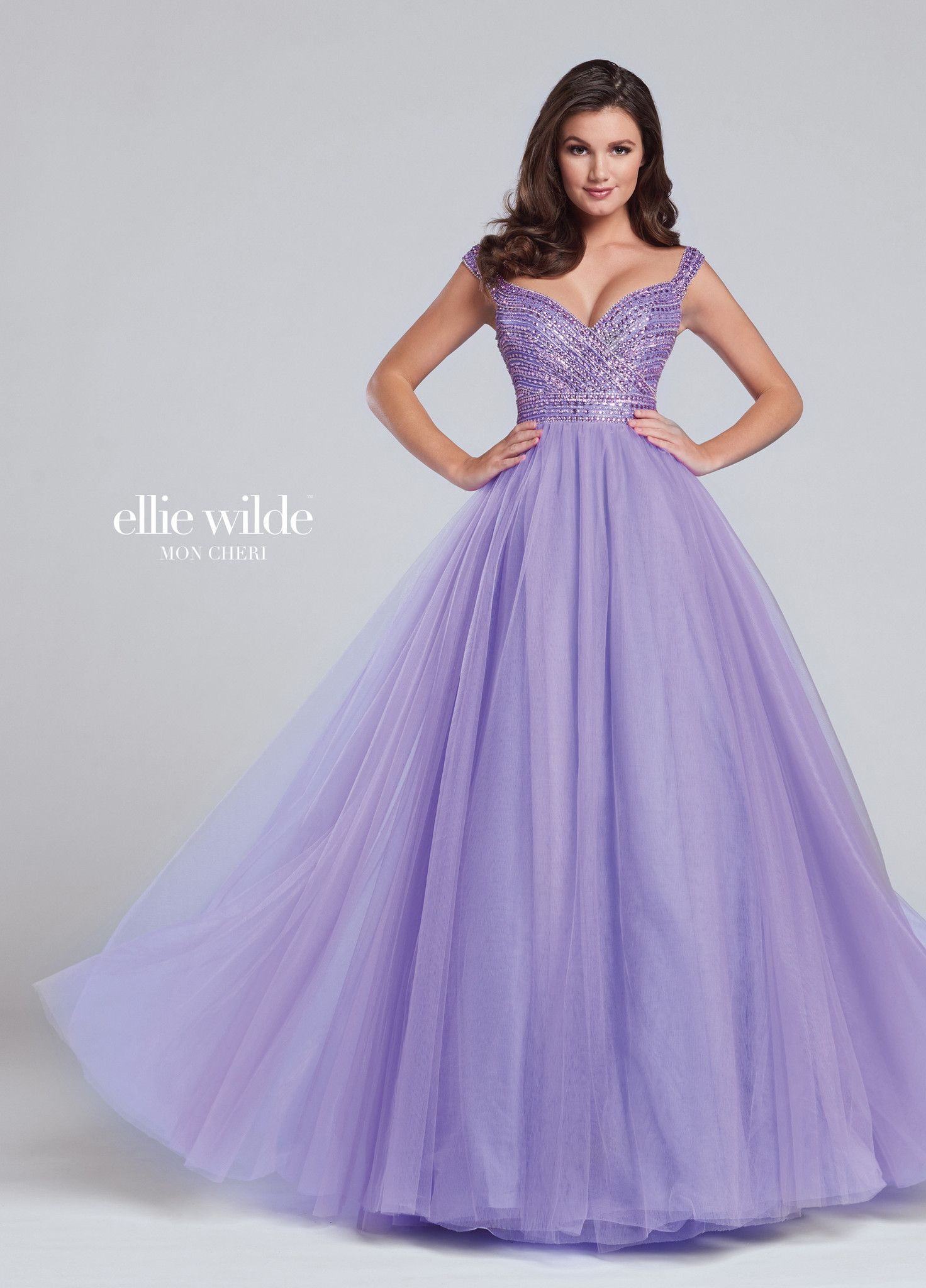 f1d81f0539 Now that s a fairy tale ball gown. Layers of frothy lavender tulle create a  dramatic ball gown skirt perfect for princess spins. All bejeweled lavender  bust ...