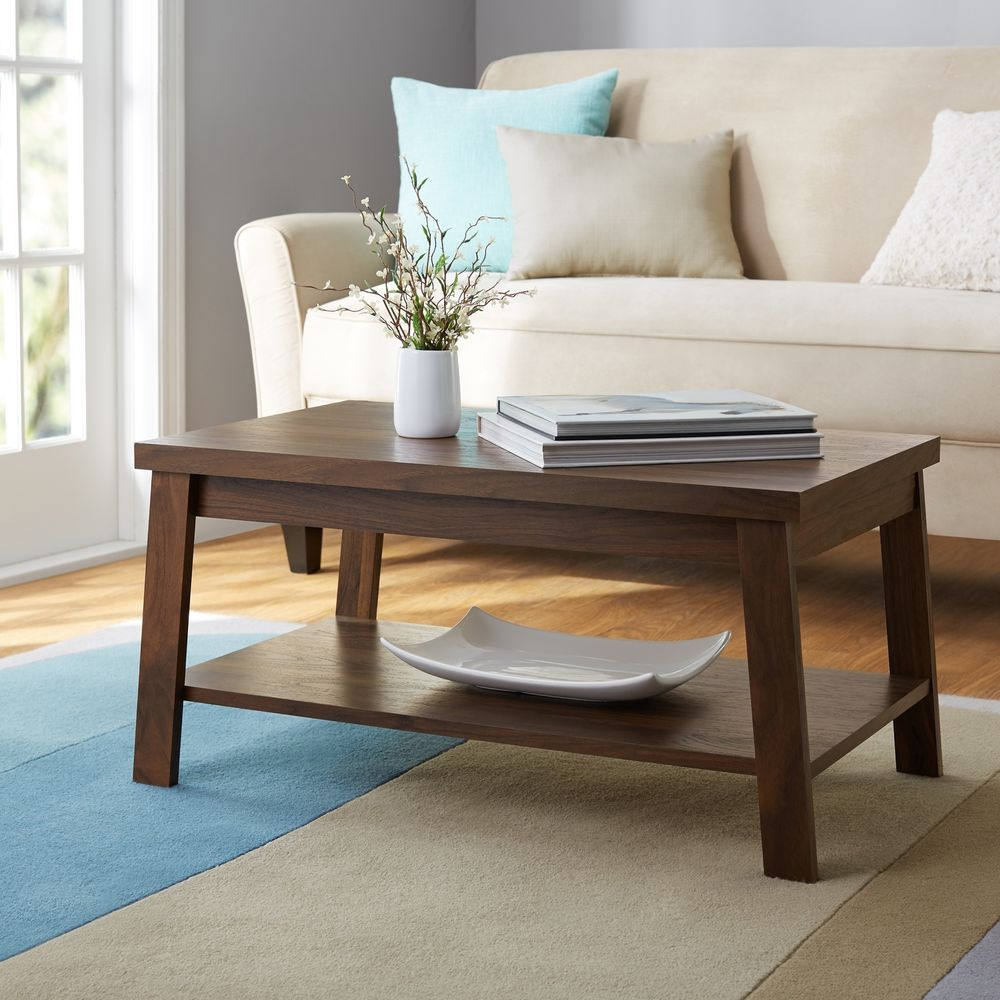 Walnut Living Room Furniture Cocktail Coffee Table Stand With Open Shelf Storage Mainstays Coffee Table Furniture Coffee Table Stand [ 1000 x 1000 Pixel ]