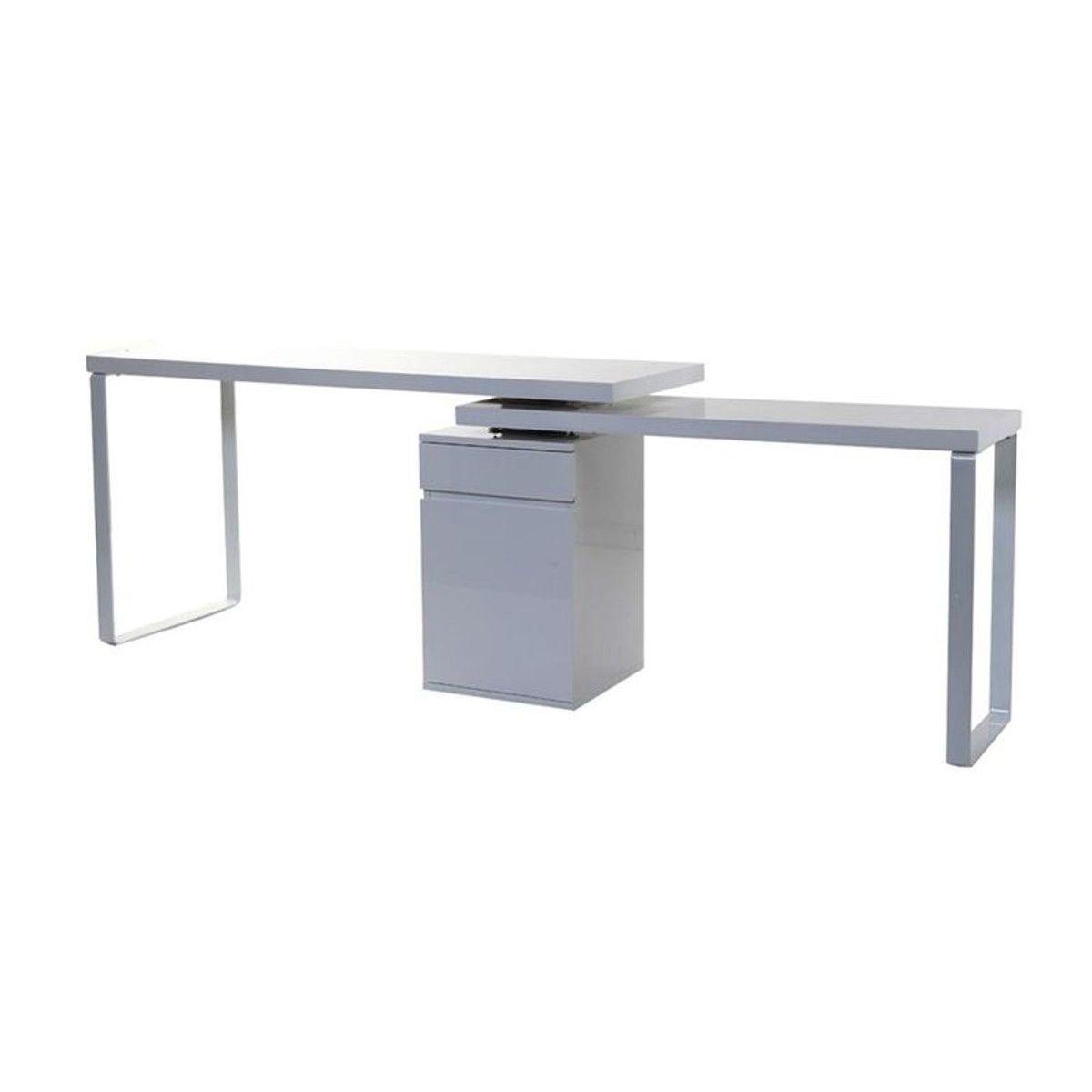 Bureau Design Amovible Blanc Brillant Voxy Taille Tu Bureau Design Bureau Amovible Chaise De Bureau Design