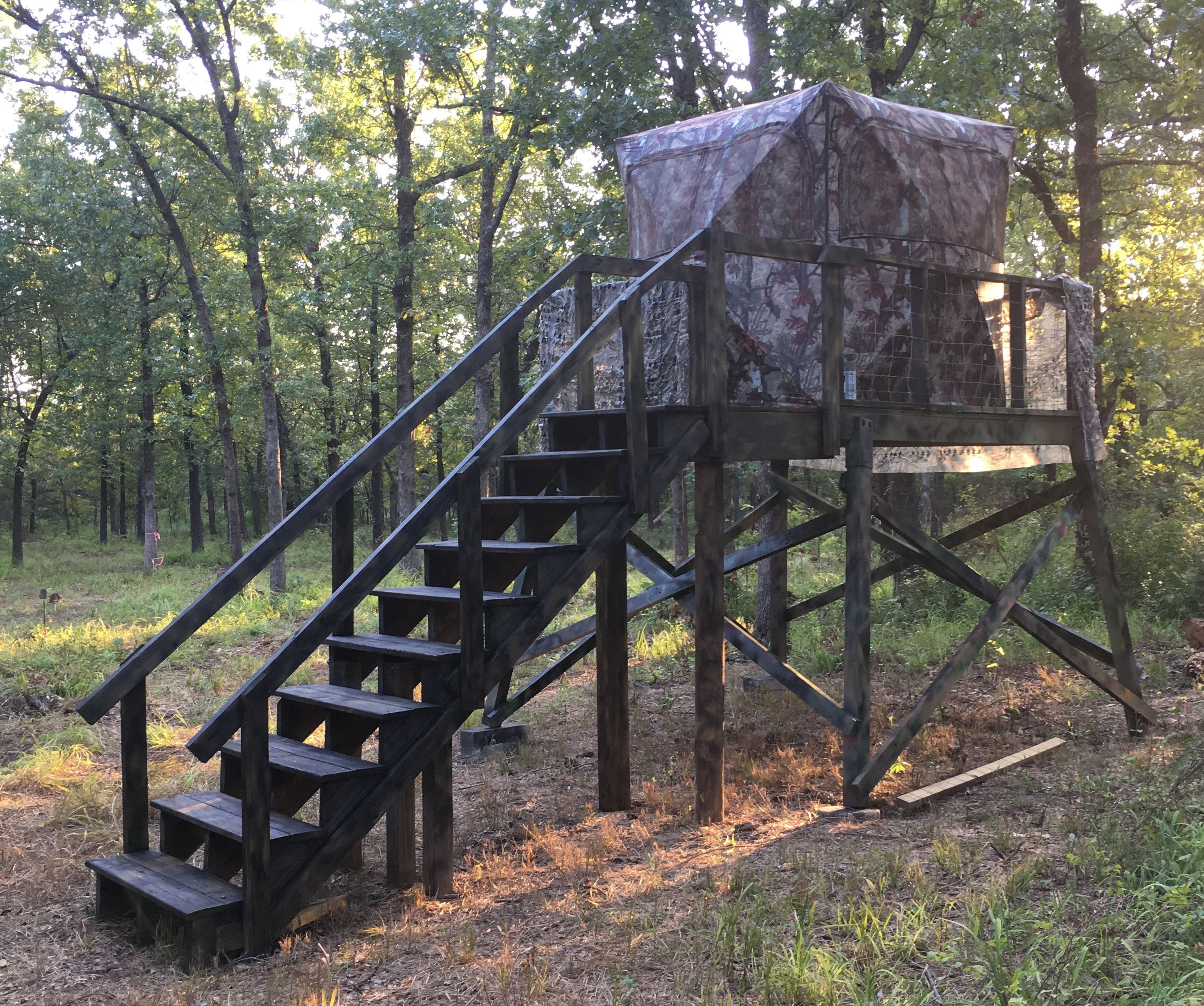 8 X8 Platform For Barronet Pop Up Deer Blind Deer Hunting Stands Deer Hunting Blinds Hunting Stands