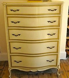 Vintage French Provincial Highboy Chest Of By ProvincialbutFrench, $799.00