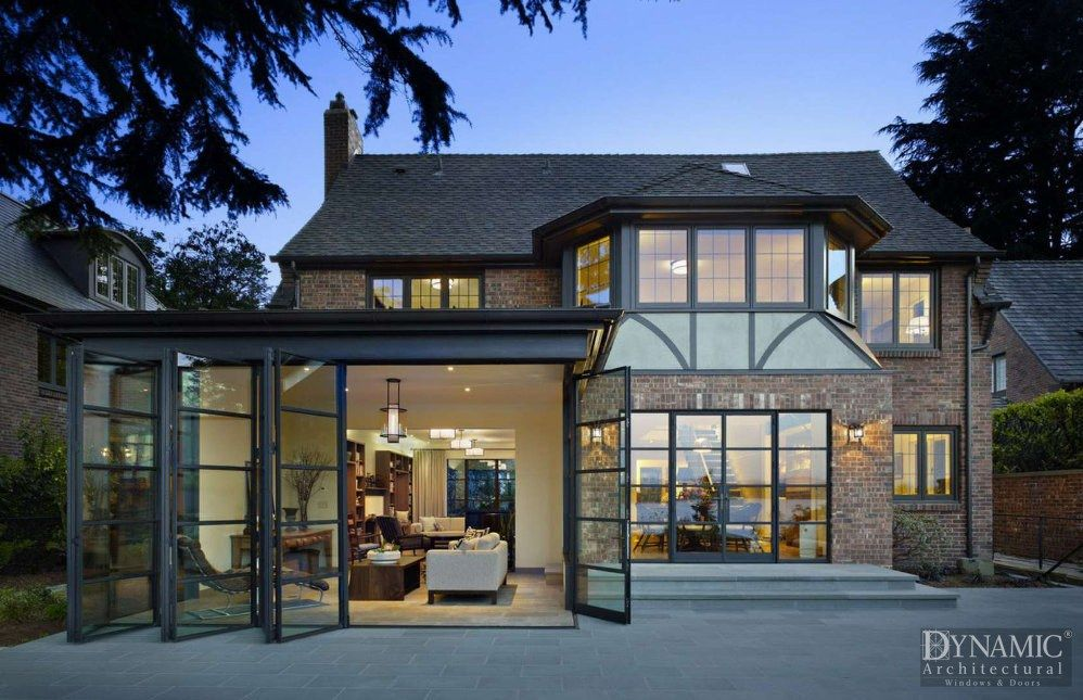 Steel Bifold Doors Tudor Style Homes Tudor House Seattle Homes