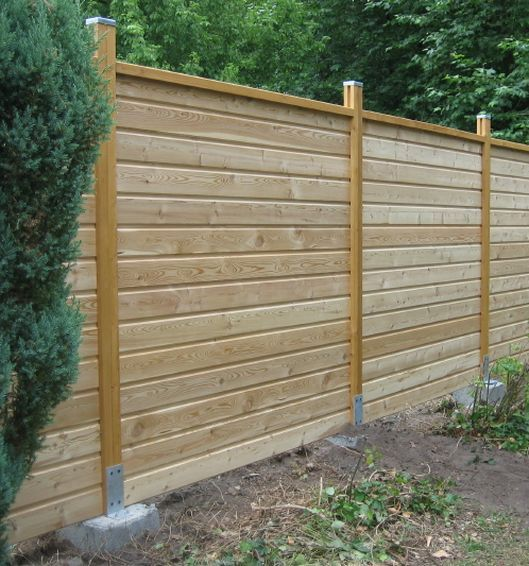 Lames de de cloture 120x20mm meleze de for Porte cloture bois