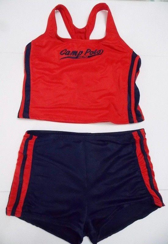 aa39c5ca13e Ralph Lauren Polo Sport Girls 2 Piece Tankini Bathing Suit Red Navy Blue  size 12 #RalphLaurenPoloSport #TankiniSet