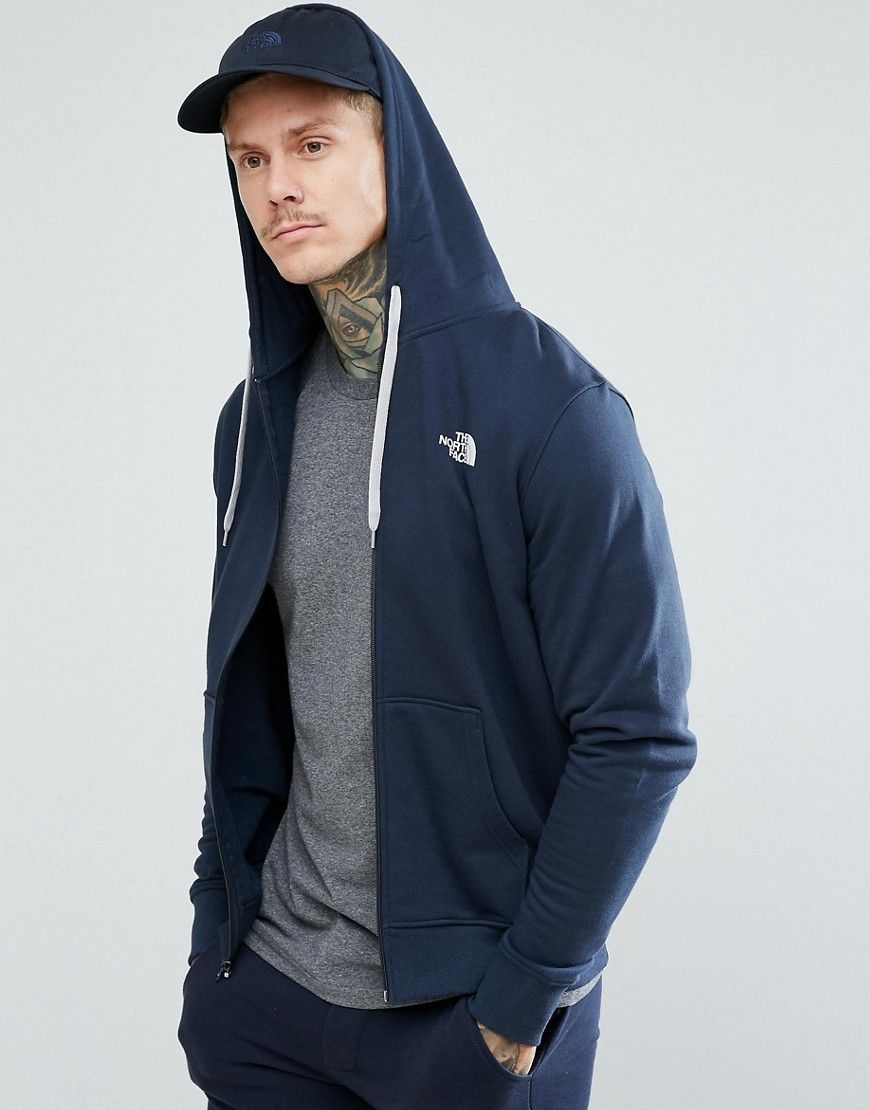 f0679f1be The North Face Open Gate Zipthru Hoodie Small Logo in Navy - Navy ...