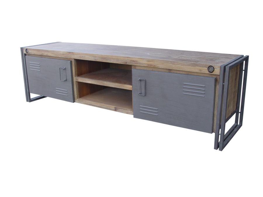 industrieel tv meubel audio meubel direct uit voorraad leverbaar