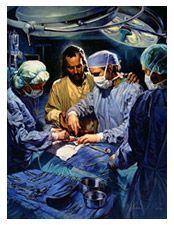 Jesus guiding surgeon