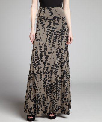 Rachel Pally : bungy grey and black fishtank print stretch jersey knit maxi skirt