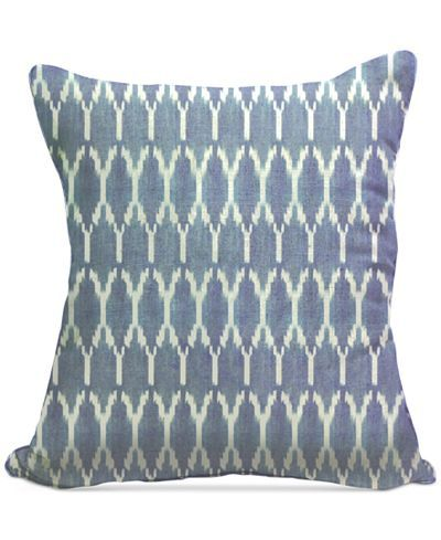 "Macy's Decorative Pillows Endearing Homewear Boho Ikat 20"" Square Decorative Pillows Collection  Throw Inspiration Design"