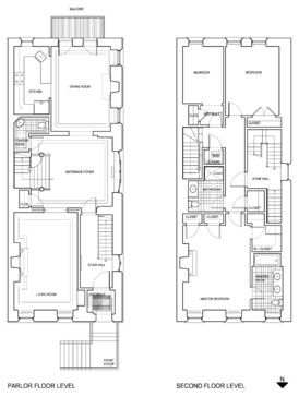 Strivers Row Townhouse Renovation Harlem Traditional Row House Vintage House Plans Floor Plans