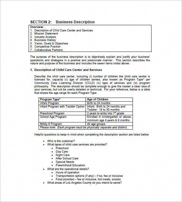 Daycarebusinessplan Daycare Business Pinterest Business Plan