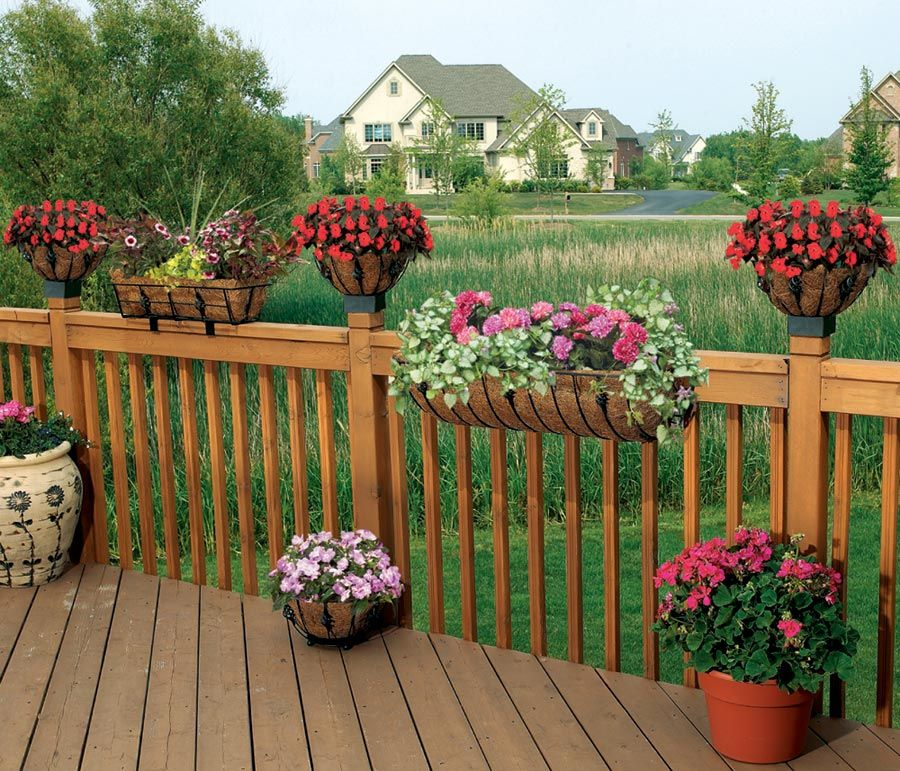 1000 Images About Garden Containers Deck Railing On
