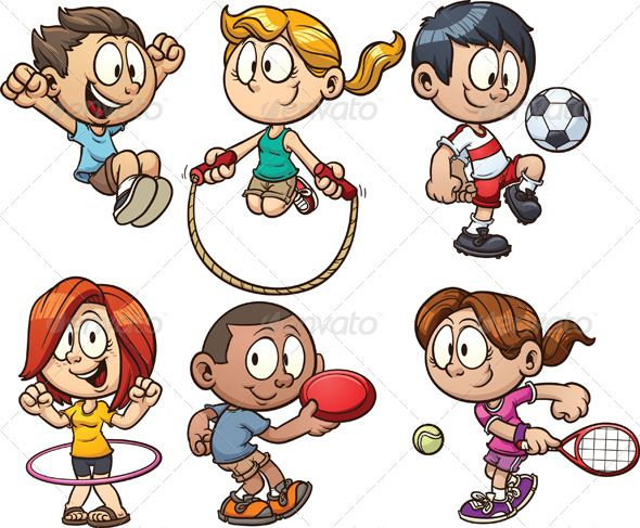 Cartoon Kids Playing Cartoon Kids Kids Playing Sports Cartoon Clip Art