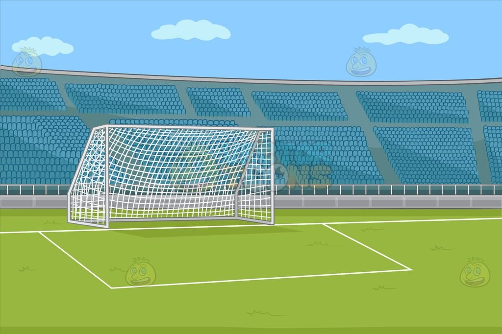 A Soccer Field With Stadium Seating Background Soccer Field Stadium Football Field