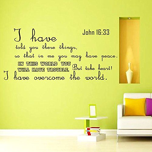 Wall Decals Quotes Bible Verse Psalm John I Have Told You - Wall decals quotes bible