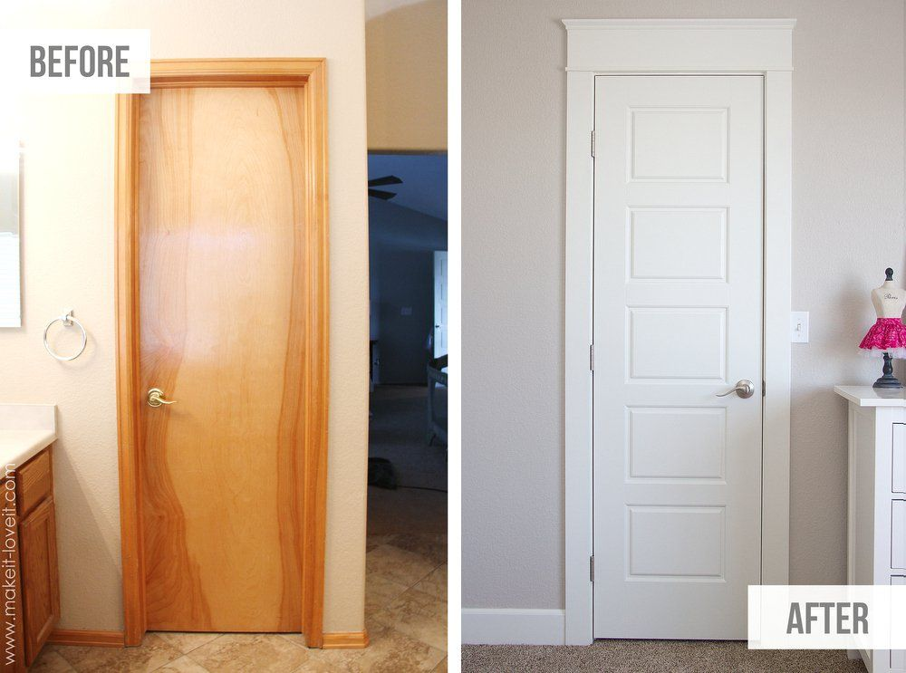 Installing A Pre Hung Door The Easy Way And Trimming Out A Door Aka Adding Molding
