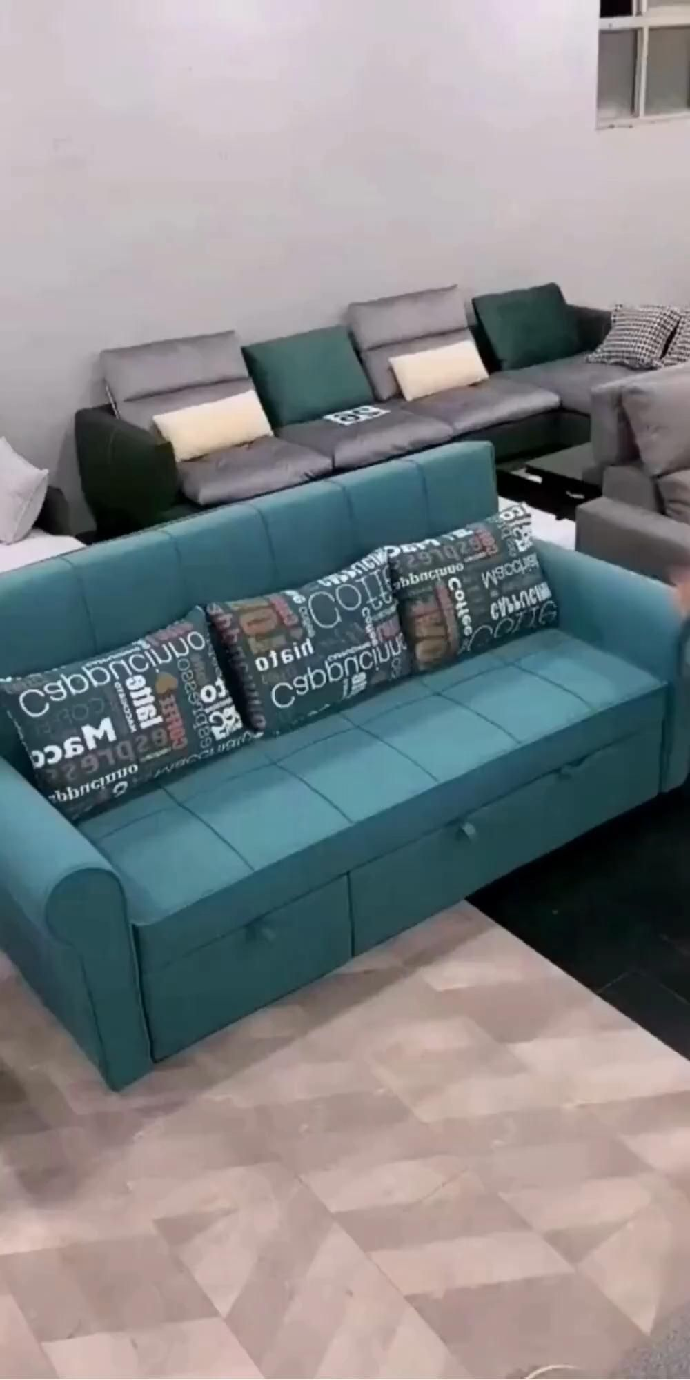 Modern Fabric Sectional Couch