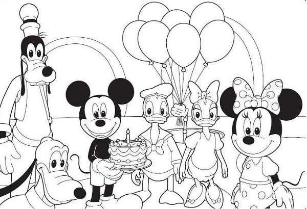 Coloriage Mickey La Maison De Mickey Mickey Et Ses Amis Jpg 600 410 Coloriage Mickey Coloriage Mickey A Imprimer Coloriage Minnie