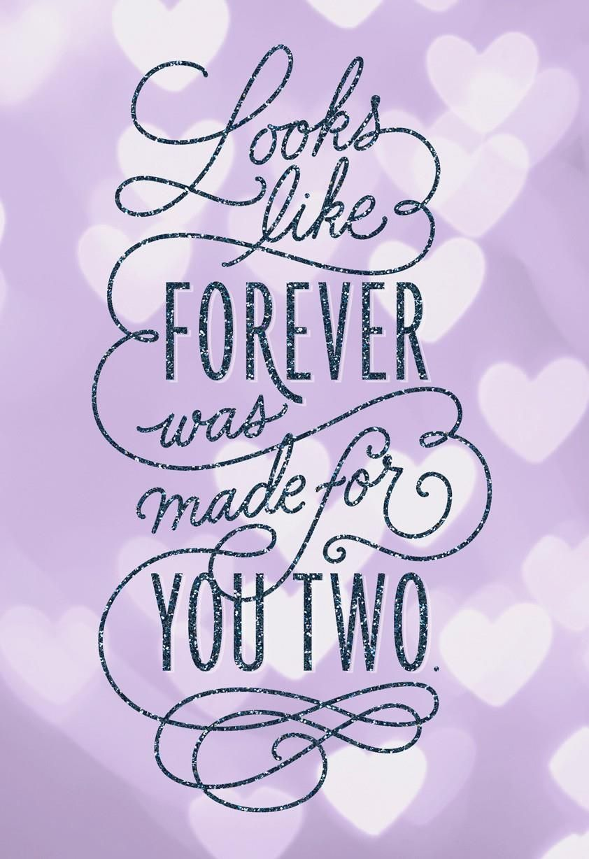 Wish A Special Couple A Happy Forever With This Glittery Anniversary
