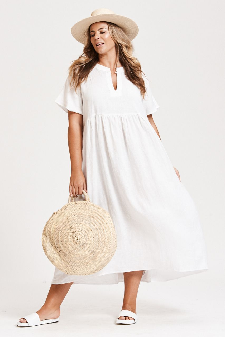 Plus Size White Summer Dresses The Perfect Look For Hot Summer Days In 2020 White Dress Summer Plus Size Summer Fashion Summer Dress Outfits
