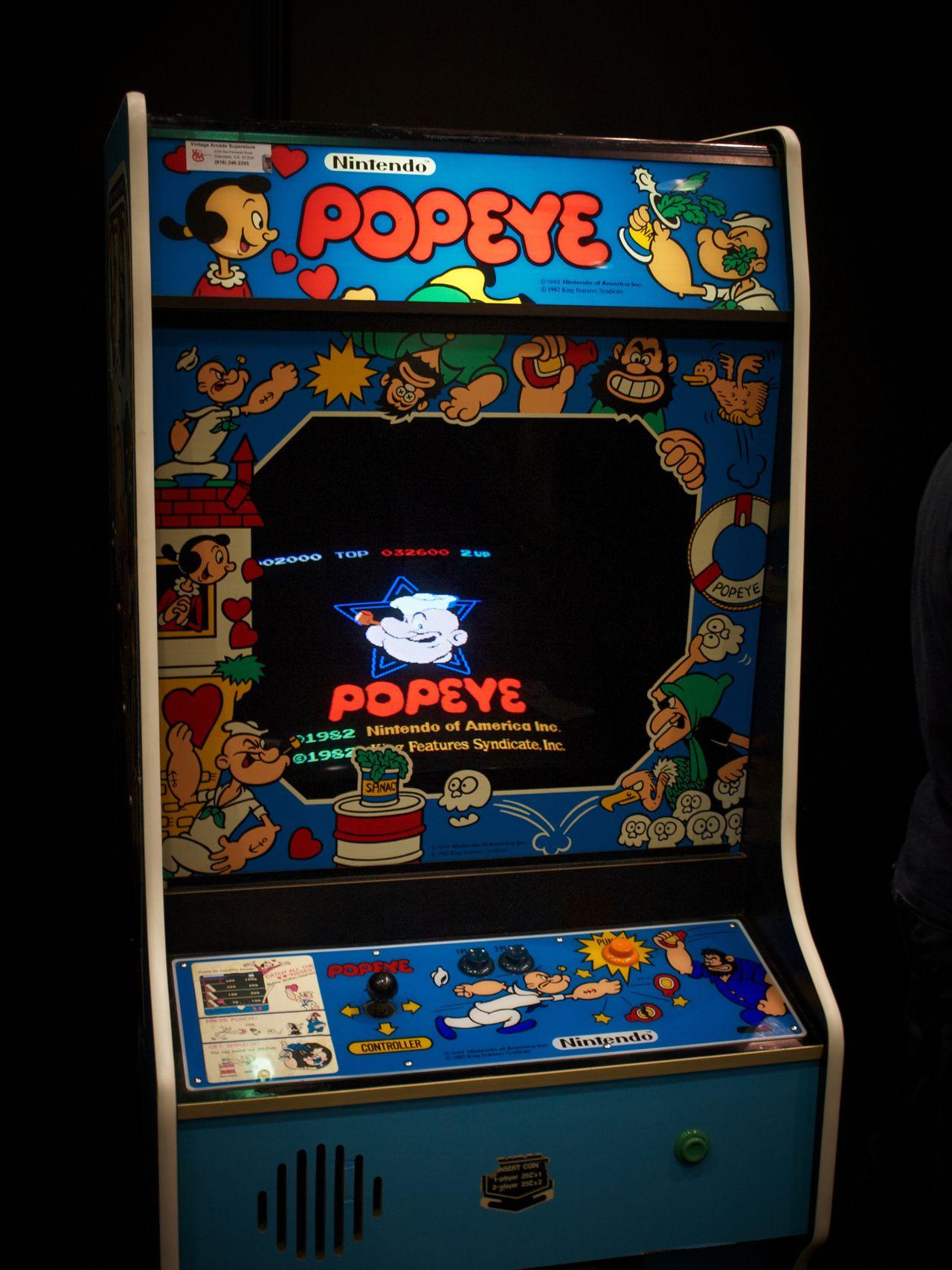 Popeye! At E3 2012 nintendo popeye arcade vintage