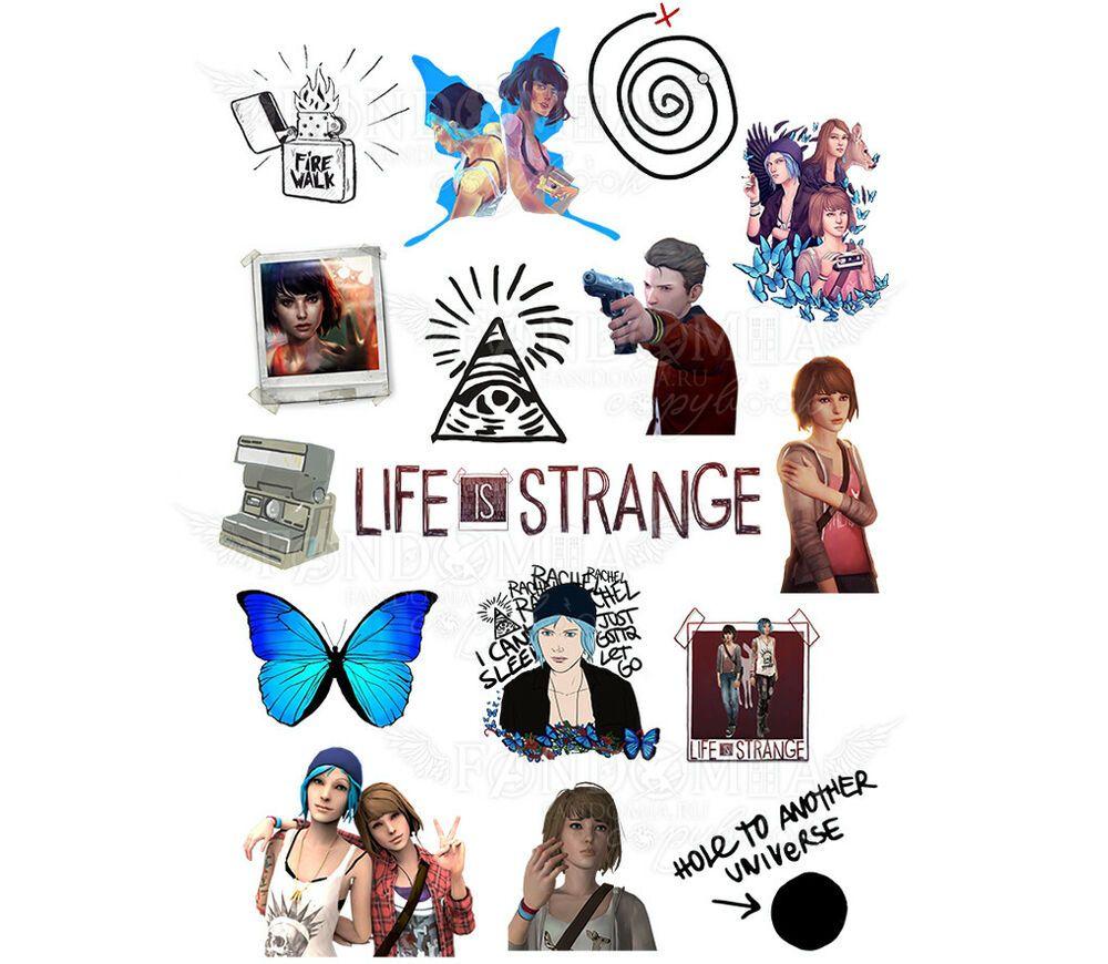 Life Is Strange Chloe Price Max Caulfield Fire Walk A4 Stickers Set Decals Afflink Life Is Strange Child Of Light Strange
