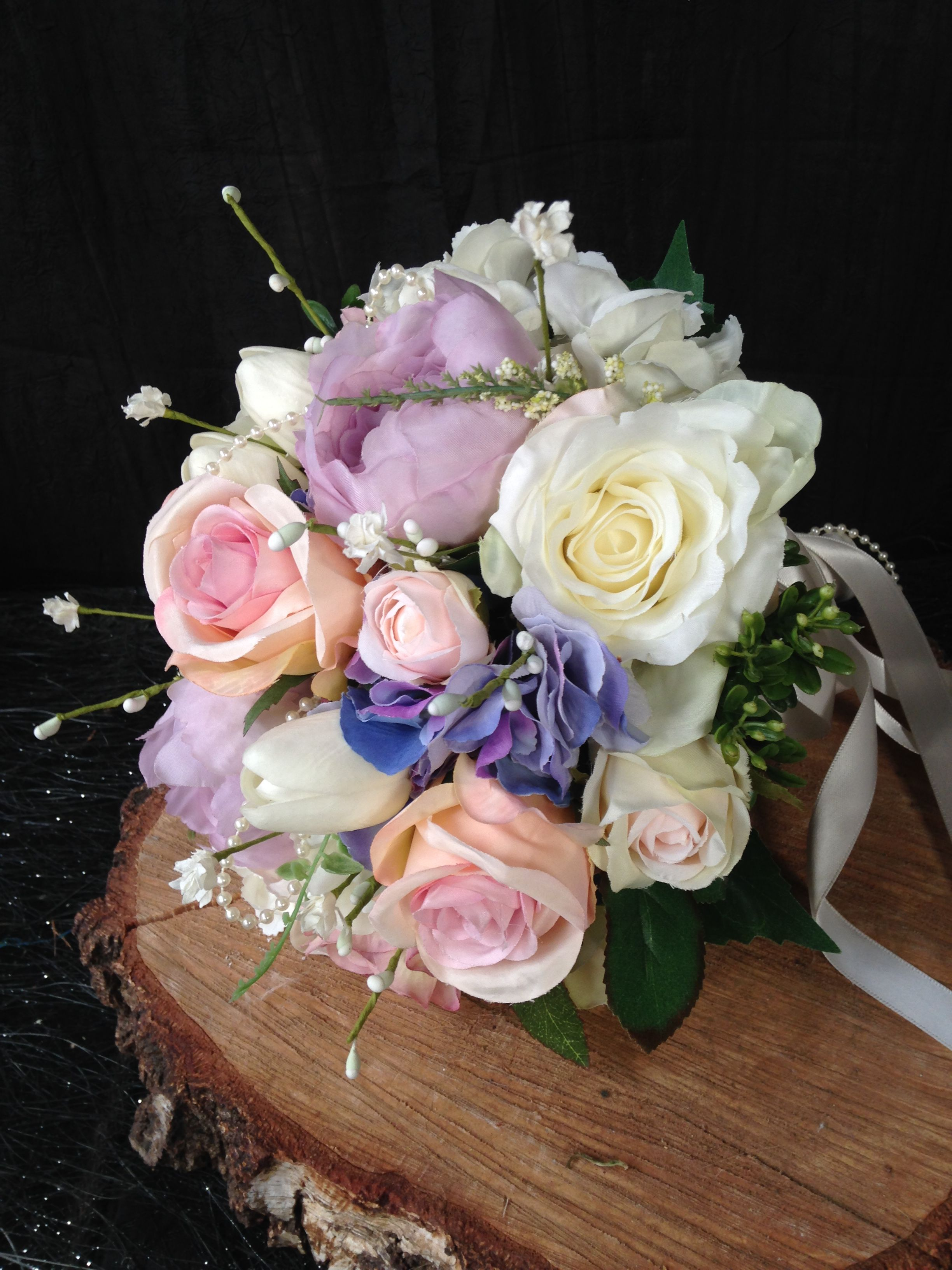 Soft Pastel Country Artificial Flowers For The Bride Pretty Colours