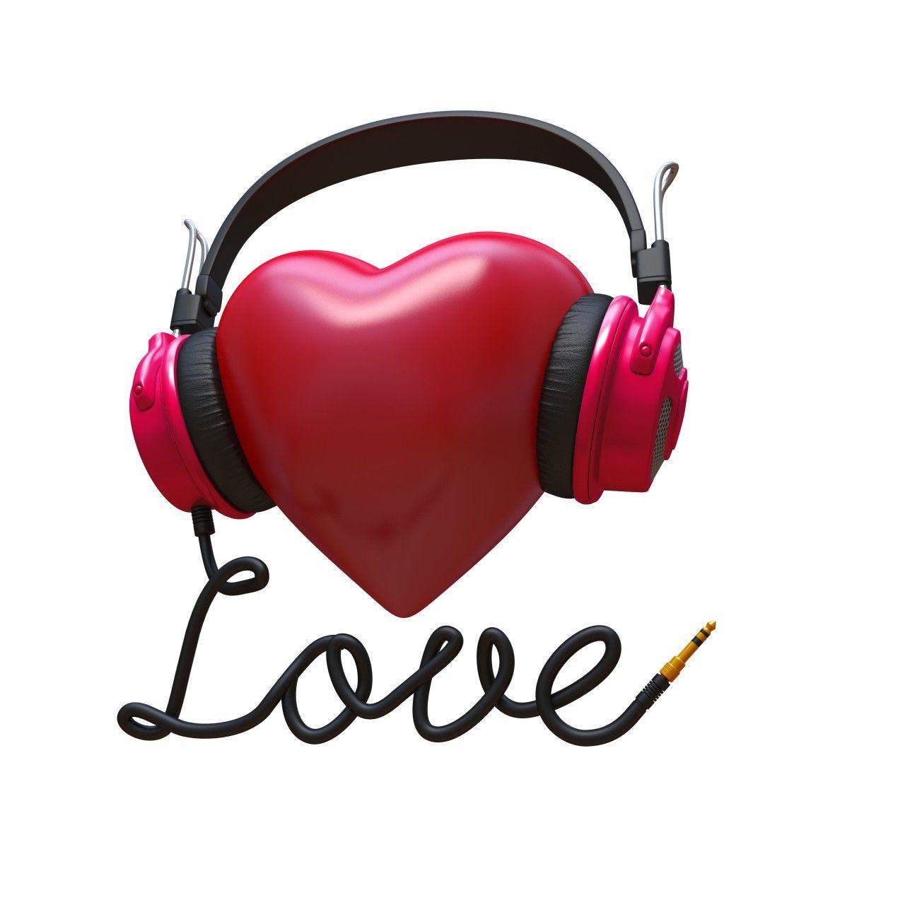 3d rock music concept headphones heart 780x780 Celebrating Valentines ...