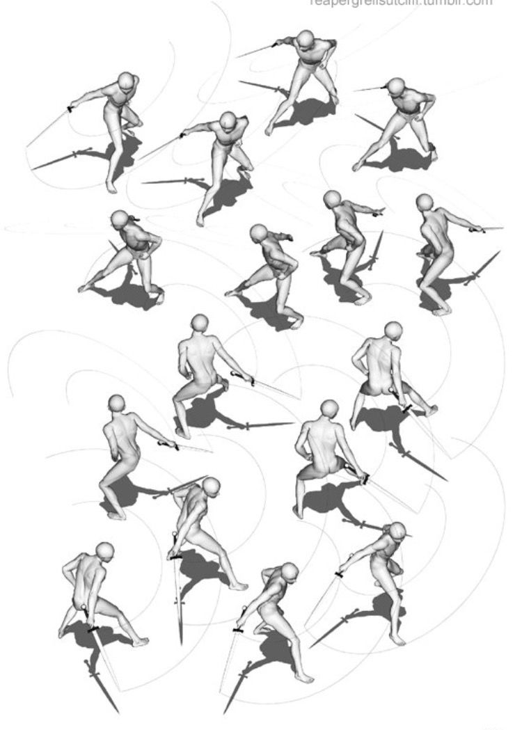 Pin By Logan On Sword Poses Sword Poses Figure Drawing Character Design Sketches