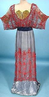 Blue coral gown (front) by Paul Doucet, 19?